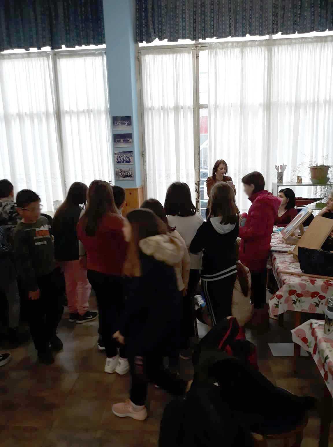 Επίσκεψη 18ου Δημοτικού Σχολείου Κοζάνης στο εργαστήρι αγιογραφίας του Πολιτιστικού Συλλόγου