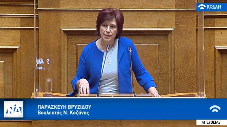 Ομιλία της Παρασκευής Βρυζίδου Βουλευτή Ν. Κοζάνης στην Ολομέλεια της Βουλής των Ελλήνων με θέμα: συζήτηση και ψήφιση επί των άρθρων, των τροπολογιών και του συνόλου του σχεδίου νόμου του Υπουργείου Αγροτικής Ανάπτυξης και Τροφίμων
