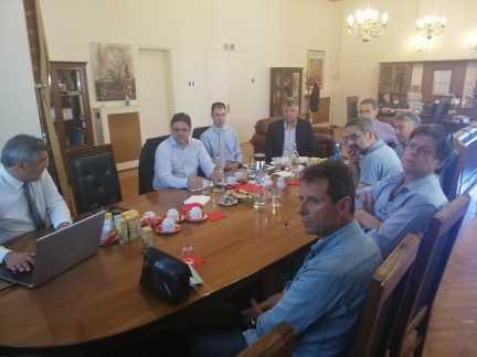 Συνάντηση του συντονιστή του Σχεδίου Δίκαιης Αναπτυξιακής Μετάβασης στη Δυτική Μακεδονία με τους επικεφαλής των παρατάξεων του Δ.Σ. Κοζάνης