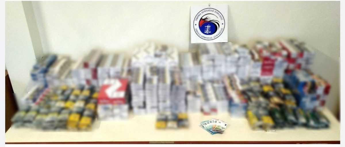 Συνελήφθησαν δύο αλλοδαποί διακινητές λαθραίων καπνικών προϊόντων στην Πτολεμαΐδα. Κατασχέθηκαν συνολικά 2.126 αφορολόγητα πακέτα τσιγάρων και 6 κιλά και 450 γραμμάρια λαθραίου καπνού.