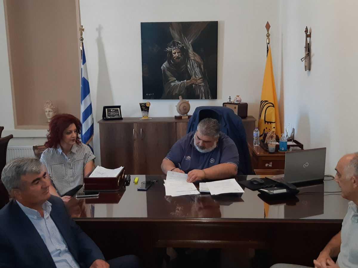 Υπογραφή σύμβασης για το έργο: «ΣΥΝΤΗΡΗΣΗ ΚΤΙΡΙΑΚΟΥ ΣΥΓΚΡΟΤΗΜΑΤΟΣ 1ου ΓΥΜΝΑΣΙΟΥ ΠΤΟΛΕΜΑΪΔΑΣ».