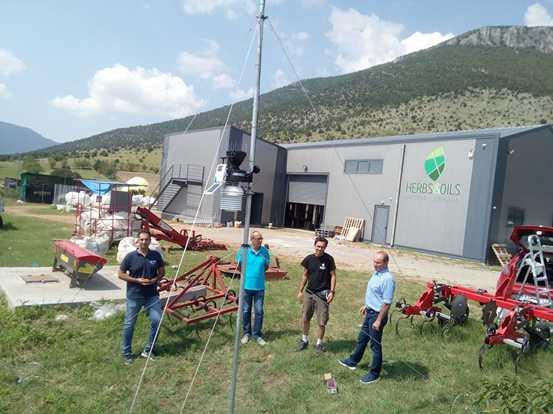 Πληροφορίες για καιρικά δεδομένα σε πραγματικό χρόνο από τον αγρομετεωρολογικόο σταθμό που εγκαθίσταται στην Ξηρολίμνη
