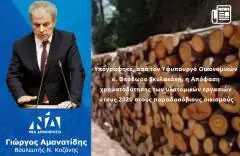Υπογράφηκε, από τον Υφυπουργό Οικονομικών κ. Θεόδωρο Σκυλακάκη, η Απόφαση χρηματοδότησης των υλοτομικών εργασιών έτους 2020 στους παραδασόβιους οικισμούς.