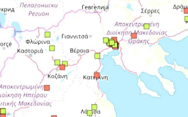 4 εγκαταστάσεις που αποθηκεύουν επικίνδυνες χημικές ουσίεςκαι 2 με ποσότητα μεγαλύτερη από την οριακή στην περιφέρεια Δυτικής Μακεδονίας. Σημεία στην Ελλάδα που υπάρχουν αποθήκες με νιτρικό αμμώνιο