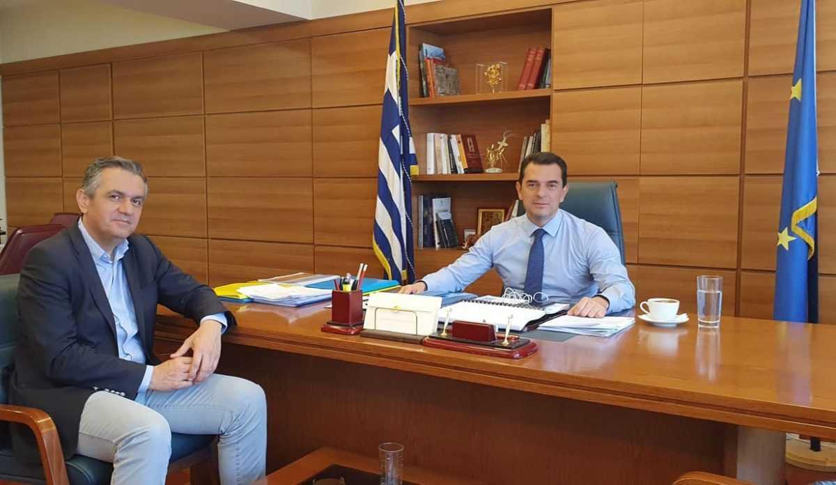 Ζητήματα του Υπουργείου Οικονομικών που αφορούν σε κτίρια της Περιφέρειας έθεσε προς διεκπεραίωση, στον υπουργό ο Γ. Κασαπίδης κατά την επίσκεψή του στην Αθήνα
