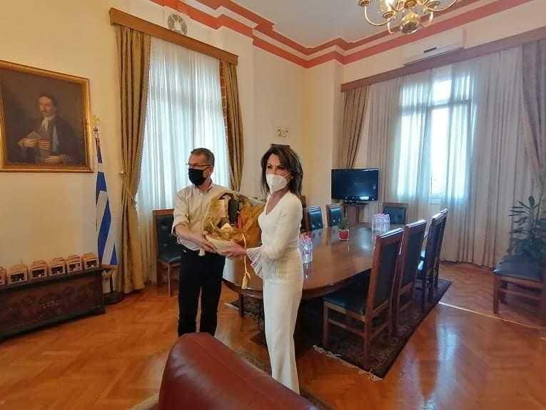 Την πόλη της Κοζάνης επισκέφθηκε την Τετάρτη 16 Σεπτεμβρίου, η πρόεδρος της Επιτροπής «Ελλάδα 2021», Γιάννα Αγγελοπούλου-Δασκαλάκη.