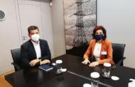 Συνάντηση της Παρασκευής Βρυζίδου με τον Γ. Στάσση Πρόεδρο & Διευθύντα Σύμβουλο της ΔΕΗ ΑΕ και τον Δημήτριο Μετικάνη