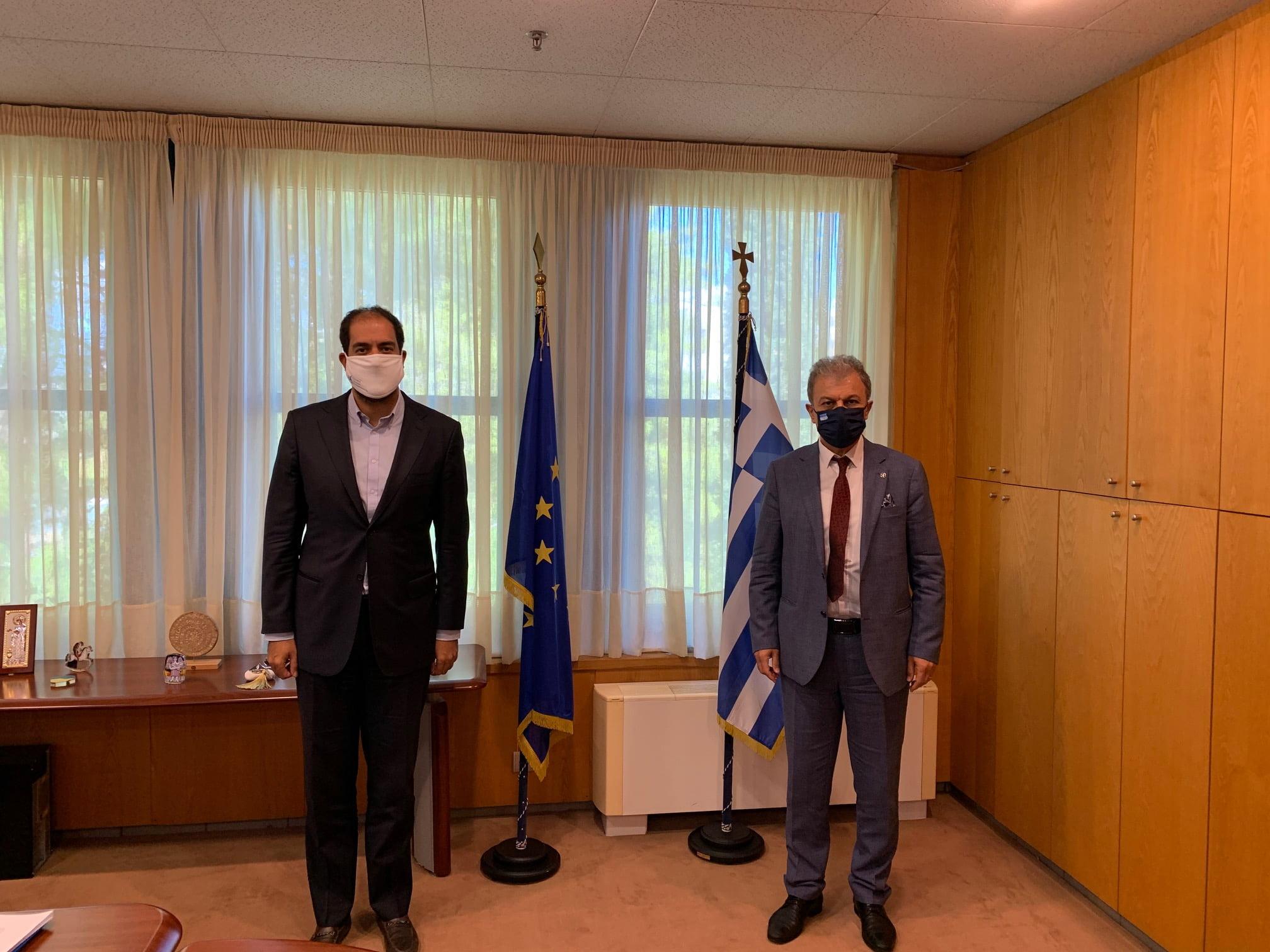 Συνάντηση του βουλευτή Γιώργου Αμανατίδη με τον υφυπουργό Μεταφορών Γιάννης Κεφαλογιάννη για θέματα που απασχολούν την Ομοσπονδία Βιοτεχνών Επισκευαστών Αυτοκινήτων Μηχανημάτων και Μοτοποδηλάτων Ελλάδος (ΟΒΕΑΜΜΕ).
