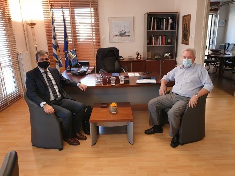 Συνάντηση του Πρύτανη Πανεπιστημίου Δυτικής Μακεδονίας με τον Υπουργό Περιβάλλοντος και Ενέργειας κ. Κωστή Χατζηδάκη και τον Γενικό Γραμματέα Έρευνας και Τεχνολογίας κ. Αθανάσιο Κυριαζή.