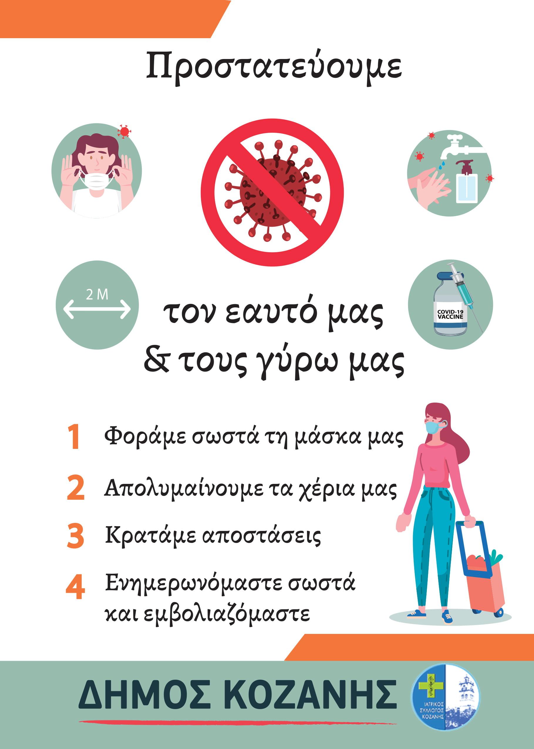 Το φυλλάδιο του Δήμου Κοζάνης για τη λειτουργία παράλληλων αγορών σε Αριστοτέλους και Νιάημερο-Οδηγίες προς τους πολίτες