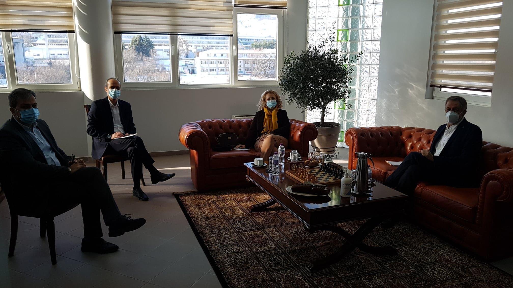 Ενημερωτική επίσκεψη κλιμακίου του Κινήματος Αλλαγής στον Πρύτανη του Πανεπιστημίου Δυτικής Μακεδονίας