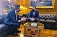 Ενημέρωση του Βουλευτή της Π.Ε. Κοζάνης Στάθη Κωνσταντινίδη με τον Υπουργό Εθνικής Άμυνας, Ν. Παναγιωτόπουλο για το στάδιο στο οποίο βρίσκεται η υπόθεση της Δίκαιης Αναπτυξιακής Μετάβασης της Δυτικής Μακεδονίας