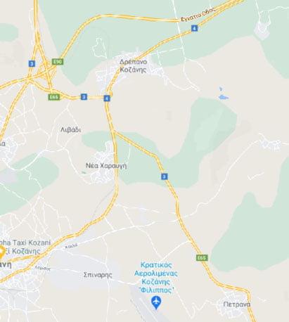 """Βελτίωση του Οδικού τμήματος """"Κοζάνη – Αεροδρόμιο"""" της Εθνικής Οδού Κοζάνης – Λάρισας"""