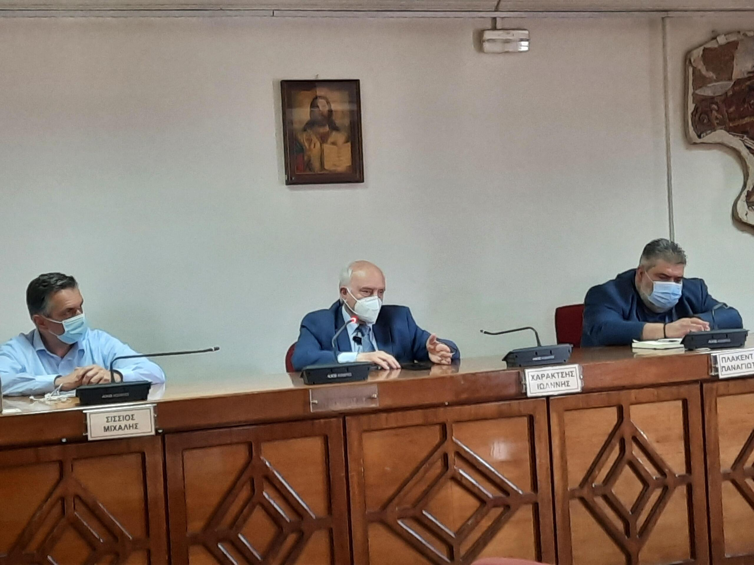 Συνάντηση Δημάρχου Εορδαίας Παναγιώτη Πλακεντά με τον Γενικό Γραμματέα Επαγγελματικής Εκπαίδευσης και Δια Βίου Μάθησης του Υπουργείου Παιδείας Γιώργο Βούτσινο. Σύσκεψη με τους διευθυντές των ΕΠΑΛ παρουσία του Περιφερειάρχη Δυτικής Μακεδονίας.