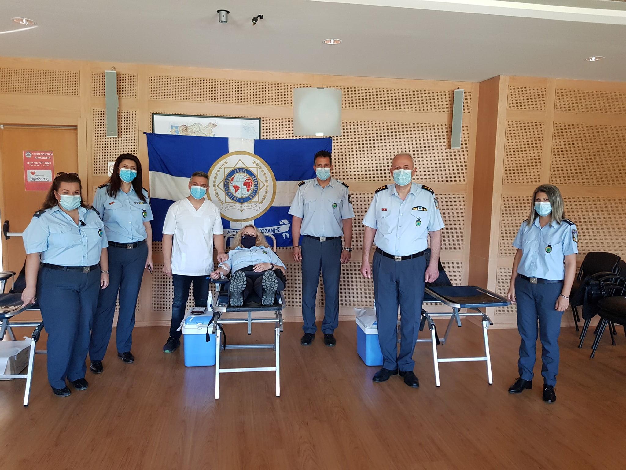 Με μεγάλη επιτυχία πραγματοποιήθηκε η 5η εθελοντική αιμοδοσία που διοργάνωσε η Τοπική Διοίκηση Κοζάνης της Διεθνούς Ένωσης Αστυνομικών (ΙΡΑ)