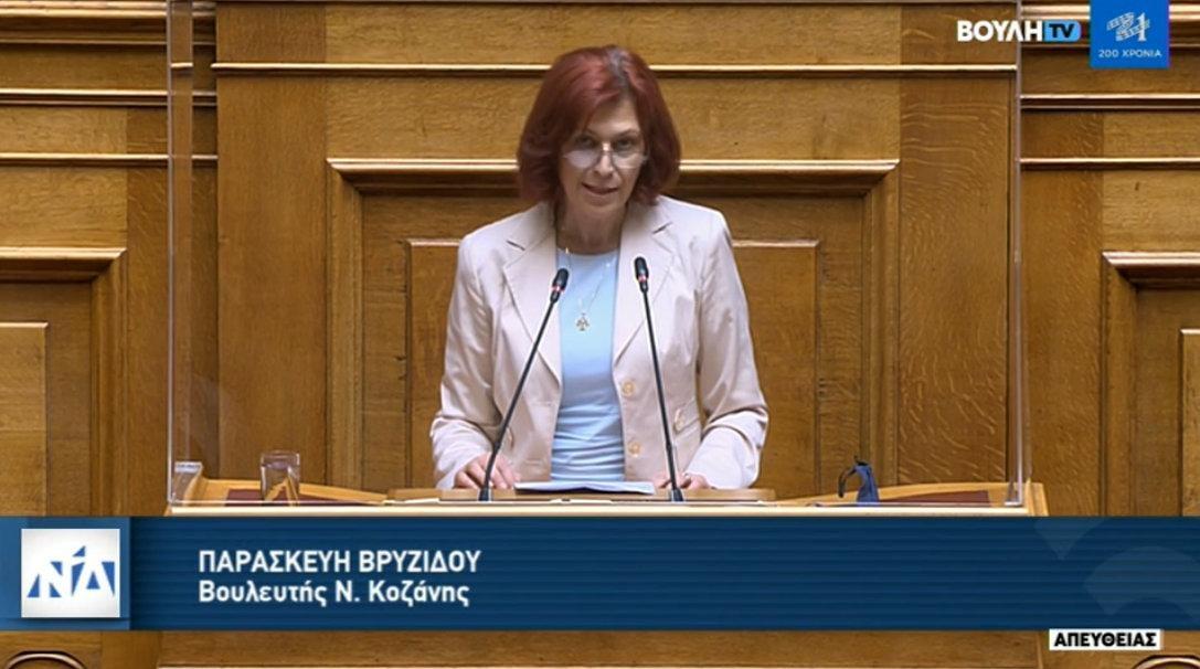 Ομιλία Π. Βρυζίδου στο ν/σ για την καταπολέμηση της νομιμοποίησης εσόδων από παράνομες δραστηριότητες στην Ολομέλεια της Βουλής