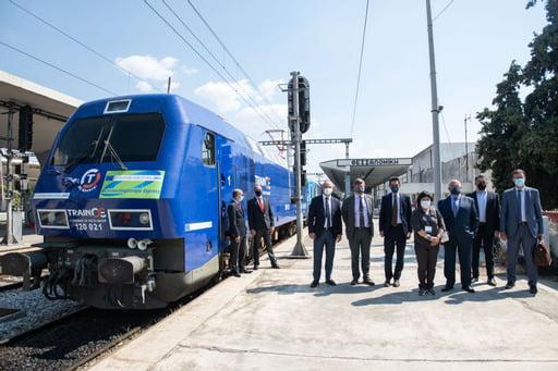 Χαιρετισμός του Υφυπουργού Υποδομών και Μεταφορών κ. Μιχάλη Παπαδόπουλου κατά την υποδοχή της αμαξοστοιχίας «ConnectingEuropeExpress» στον σιδηροδρομικό σταθμό Θεσσαλονίκης