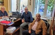 Συνάντηση του Χρ. Ψαλίδα, της συντονιστικής επιτροπής αγώνα και προέδρου του ΠΑΣΑΣ/ΔΕΗ παραρτήματος Κοζάνης, με τον διοικητή του Μαμάτσειου νοσοκομείου Κοζάνης Στέργιο Γκανάτσιο