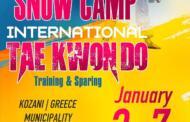 Για όγδοη χρονιά ο σύλλογός μας Μακεδονική Δύναμη Κοζάνης σε συνεργασία με τον Δαναό Ωραιοκάστρου θα διοργανώσουν το διεθνές INTERNATIONAL SNOW CAMP TAEKWONDO 2022